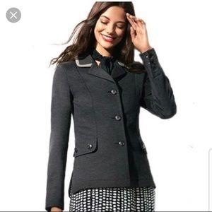 Cabi gray pointe twill blazer jacket size S